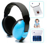 Baby Ear Muffs Noise Protection Headphones and Earplugs Pack - Ages 2 to 36 Mont