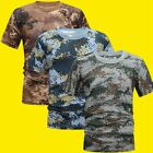 Man Camouflage Sports T-Shirt Compression Short Sleeve Quick Dry Fitness Tee Top image