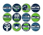 "Seattle Seahawks Button Badge Pin Pinback Magnet  Flatback 1.25"" Fan Gift Set $11.99 USD on eBay"