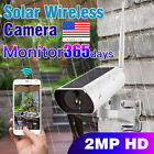 Solar Powered Security Camera IP Wifi Wireless Rechargeable HD 1080P Outdoor LOT