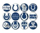 """Indianapolis Colts Button Badge Pin Pinback Magnet  Flatback 1.25"""" Fan Gift Set $10.99 USD on eBay"""