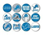 "Detroit Lions Button Badge Pin Pinback Magnet  Flatback 1.25"" Fan Gift Set $10.99 USD on eBay"