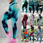 3D Women Ruching Push Up Leggings Yoga Pants Gym Workout Anti Cellulite Trousers