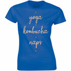 Yoga Kombucha Naps Shirt Queen Nap Sleepy Morning Person Fitness Gym Fashion New