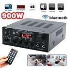 110V-220V HiFi 2CH bluetooth Home Stereo Amplifier Digital MP3 Player Karaoke