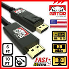 Display Port DP to HDMI Cable Adapter Converter Audio Video PC HDTV 1080P 60Hz