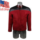 Star Trek The Next Generation Captain Picard Red Duty Uniform Jacket TNG Costume on eBay