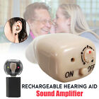 Mini Rechargeable In Ear Hearing Aid Adjustable Best Sound Tone Amplifier