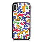 KEITH HARING ART iPhone 5/5S 6/6S 7 8 Plus X/XS Max XR Case Cover