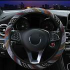 "Automotive Boho Ethnic Flax Car Steering Wheel Cover Grip 14.96in 15"" New"
