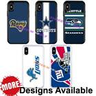 Sports Team American Football Hybrid Case for iPhone Xs X 8 7 6s + / Galaxy S8 + $13.99 USD on eBay