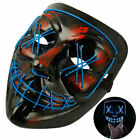 Halloween LED Light Mask Up Party Mask 3-Modes Purge Election Year Party Cosplay