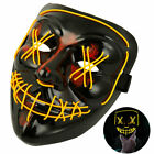 LED Light Mask Up Party Mask 3-Modes Purge Election Year Party Cosplay Halloween
