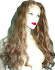Brown #11 Remi Remy Indian Human Hair Full Lace Wig Wigs Long Wavy Body Wave