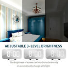 3D LED Wall Digital Clock Eletronic Mirror Lumious Alarm Modern Home Office Deco