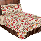 Fall Chickadees on Branches with Leaves All Over Reversible Quilt image
