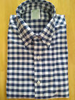 NWOT Brooks Brothers Blue & White Gingham Button Down Milano Fit MSRP $140