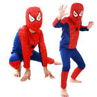 Kids Boys Girls Red Spiderman Cosplay Costume Superhero Fancy Outfit Clothes