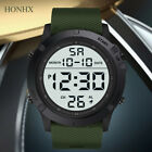 Fashion Men's Military Sports Watch LED Digital 5 ATM Round Wrist Watches image