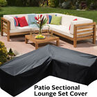 Patio Sectional Sofa Cover V-shap Furniture Protector Outdoor Garden Couch Cover