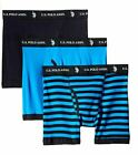 U.S. Polo Assn. Men's 3-Pack Cotton Boxer Briefs ASSORTED, S, M, L, XL *NEW