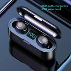 Waterproof Bluetooth 5.0 Earbuds Headphones Wireless 8D Headset Noise Cancelling