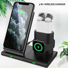 3in1 Qi Wireless Fast Charger Dock Stand For Apple iWatch Airpods iPhone 11 Pro