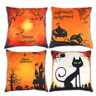 Fall Halloween Pumpkin Pillow Covers Waist Throw Cushion Case Holiday Home Decor image