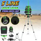 Green 5 Lines Cross Laser Level 360° Self Leveling Horizontal Vertical + Tripod