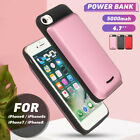 5000mAh Power Bank Battery Backup Phone Case Cover Charging For iPhone 6/6s/7/8