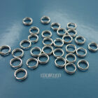 Solid Sterling Silver Split Jump Ring Connector [Choose Size]