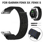 22mm / 26mm Nylon Loop Watchband Quick Release Strap Band For Garmin Fenix 5X 5