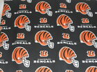 NFL Cincinnati Bengals Cotton Fabric FQ, 1/4 yd or 1/2yd $7.95 USD on eBay