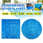 6/7/8/10/12ft Square/Round Swimming Pool Hot Tub Spa Protective Cover Blanket