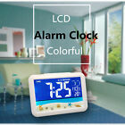 New LCD color large screen clock kids alarm clock temperature humidity display