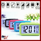 Electronic Digital Alarm Clock with LCD Display White Backlight Calendar Snooze