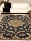 Indian Traditional Medallion Carpet Handmade Oriental Floral Area Rug Charcoal