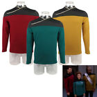 Star Trek TNG Captain Picard Red Uniform Voyager DS9 Blue Yellow Top Jacket on eBay