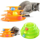Funny Pet Cat Crazy Ball Disk Interactive Toys Amusement Plate Trilaminar Toy