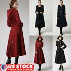 Womens Steampunk Victorian Swallow Tail Gothic Vintage Long Trench Coat Jacket