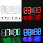 LED Digital Alarm Snooze Wall Clock Night Light Display Dimmable 12/24 Hour