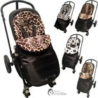 Animal Print Padded Pushchair Footmuff / Cosy Toes Compatible with Ickle Bubba