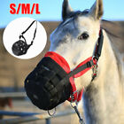 3 Sizes L/M/S Horse Safety Safe Grazing Muzzle Halter Mouth Mask Cover Protector