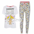 PRIMARK Ladies TROLLS Rainbow Hair Don't Care Pyjamas Pajama Pieces image