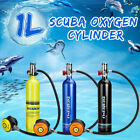 Diving Breathing Oxygen Cylinder 1L Tank Teaching Equipment Aviation Aluminum