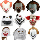 Halloween Mask Scary Adult Kid Bloody LED Light Up Cosplay Costume Horror Props