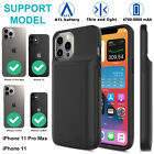 For iPhone 12 Pro/Max/Mini/11 Pro Max Backup Charging Case Power Bank Battery US