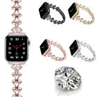 Women Diamond Bracelet Stainless Steel Strap Wristband For Apple Watch 5 4 3 2 1 image