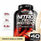 MuscleTech NitroTech Protein Powder Plus Muscle Builder - 4 POUNDS - 6 FLAVORS $16.95 USD on eBay
