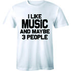 I Like Music And Maybe 3 People - Sarcastic Funny Music Lover Men's T-shirt Tee